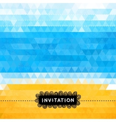 Triangle summer invitation with sea and beach vector