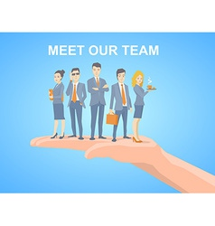 a business team of young business people vector image