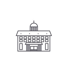 administrative building thin line icon concept vector image
