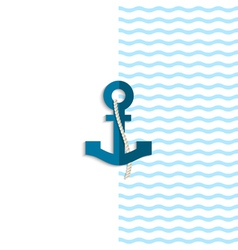 Anchor from paper vector image