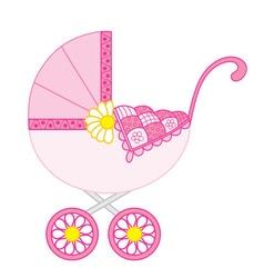 Baby Girl Stroller vector