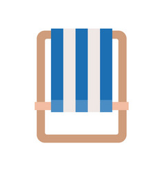 Beach chair flat icon on white background vector