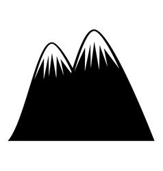 big mountain drawing icon vector image