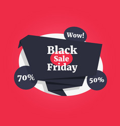 black friday sale color label like wow discount vector image