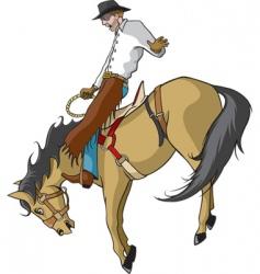 Bronco rider vector