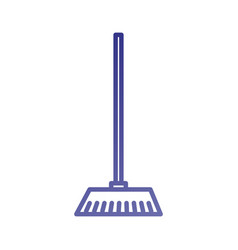 broom made from twigs on a long wooden handle tool vector image