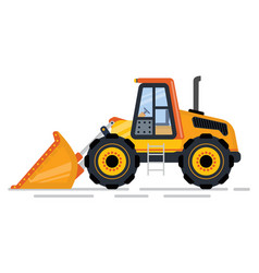 bulldozer or excavator machinery for building vector image