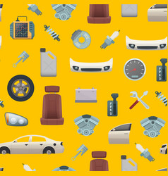 car parts pattern or background vector image