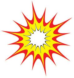 Cartoon comic explosion blast vector