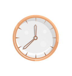 classic round wall clock icon vector image
