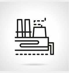 coal station simple line icon vector image