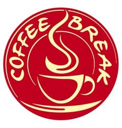 coffee break label vector image