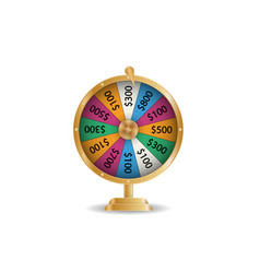 colorful roulette wheel chance victory fortune vector image