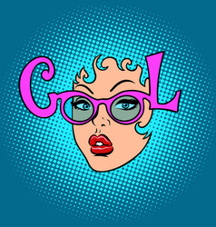 cool fashion women glasses vector image