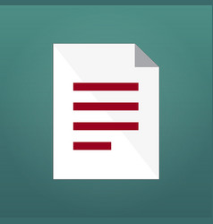 document icon or simbol isolated on modern vector image