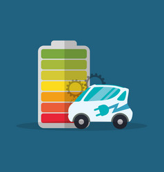 Ecology car electric battery vector