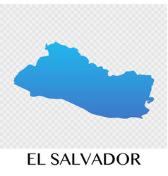 El salvador map in north america continent design vector