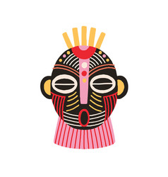 ethnic african tribal mask with open mouth and vector image