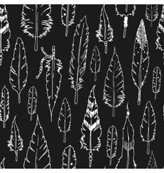 Feather background tribal pattern vector