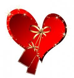festive heart vector image