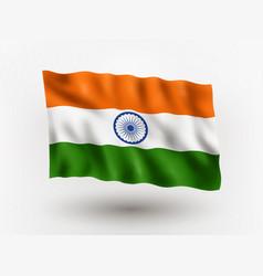 Flag india vector
