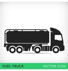Fuel truck flat icon vector