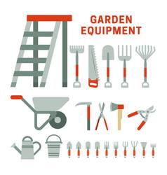 Garden equpment icons vector