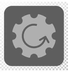 Gear Rotation Rounded Square Button vector