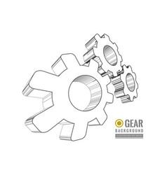 Gear schematic vector