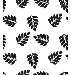 geometric seamless pattern Modern floral leaves vector image