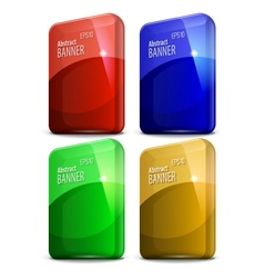Glossy computer cover vector image