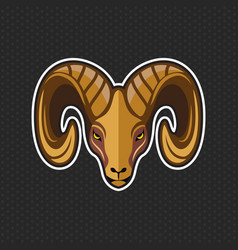 Goat logo design template goat head icon vector