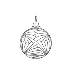 hand drawn doodle christmas ball toy vector image