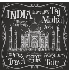India logo design template Taj Mahal or vector image