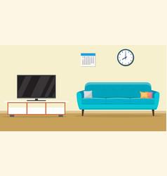 living room interior design vector image