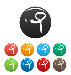 Make tie icons set color vector