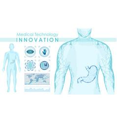 medical technology innovation banner vector image
