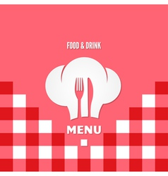 menu chef design background vector image