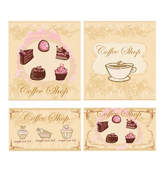 Menu coffee shop set vector