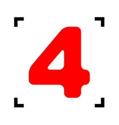 number 4 sign design template element red vector image