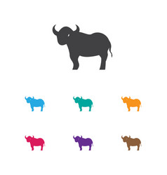 of zoology symbol on bull icon vector image