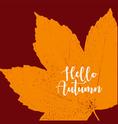 orange grunge autumn background vector image