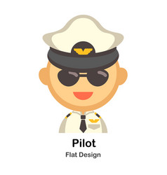 Pilot flat vector