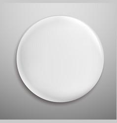 Pin badge white blank round metal button circle vector