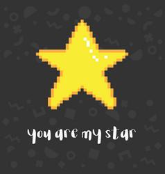 pixel art star vector image