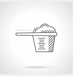 Plastic scoop flat line icon vector