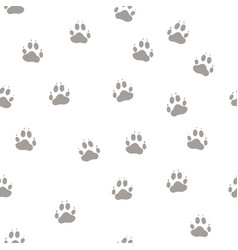print the paws of the wolf vector image