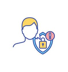 Privacy concern rgb color icon vector