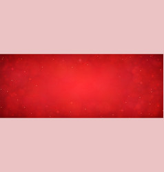 red christmas glitter background with stars vector image