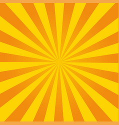 retro ray orange background in vintage style vector image